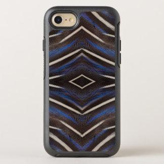 Diamond guinea fowl feather design OtterBox symmetry iPhone 7 case