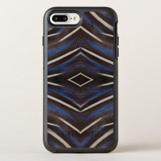 Diamond guinea fowl feather design OtterBox symmetry iPhone 7 plus case