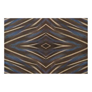 Diamond guinea fowl feather design wood wall art