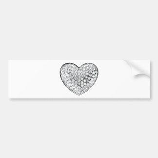 Diamond Heart Bumper Sticker
