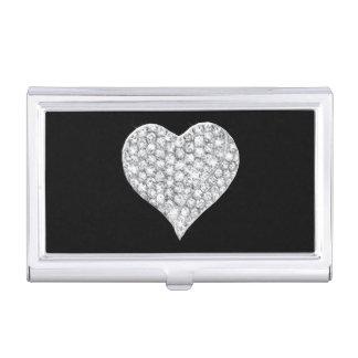 Diamond Heart Business Card Holder