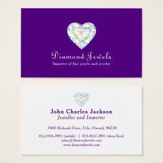 Diamond heart jewel jewelry business card