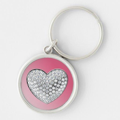 Diamond Heart Keychain