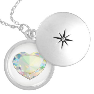 Diamond Heart Locket Necklace