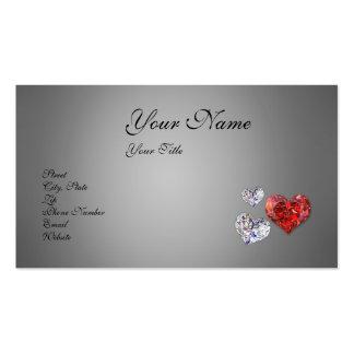 Diamond Hearts - Business Card