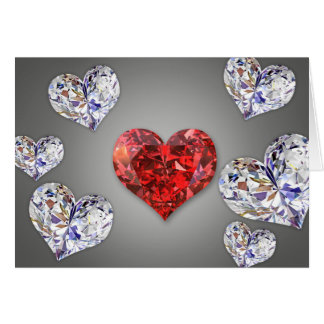 Diamond Hearts - Greeting Card