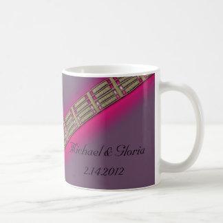 Diamond Hearts Lavender and Pink Coffee Mug