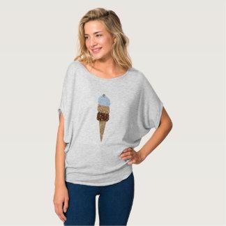 Diamond Ice Cream Blue Brown Diamond Gold Summer T-Shirt
