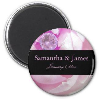 Diamond in Pink Rose Personal Wedding Magnet