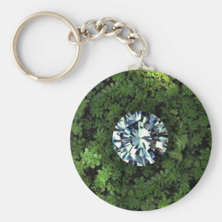 Diamond in the Rough basic button key chain