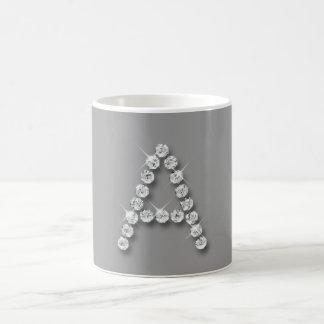 Diamond Initial A Coffee Mugs