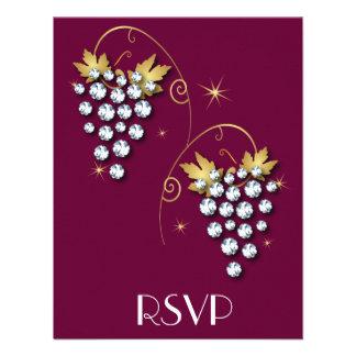 Diamond Invitations Grapes Design