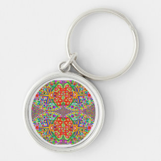 Diamond Jewels : Fine Art Collections Silver-Colored Round Key Ring