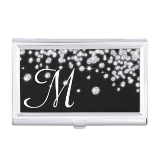 Diamond Jewels Jewelry Monogram Business Card Hold Business Card Case