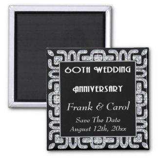 Diamond Jubilee 60th Wedding Anniversary Fridge Magnets