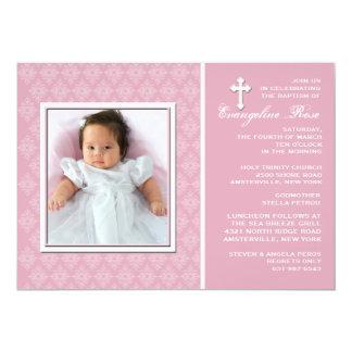 "Diamond Lace Photo Invitation 5"" X 7"" Invitation Card"