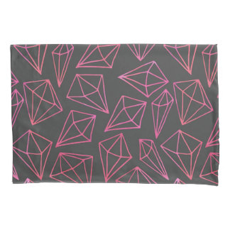 Diamond Life Black and Red Pattern Pillowcase