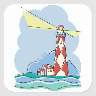 Diamond Lighthouse Square Sticker