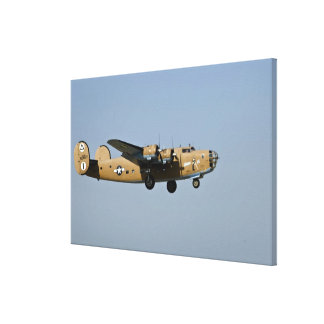 Diamond Lil B-24 Bomber, landing at Oshkosh, Gallery Wrapped Canvas