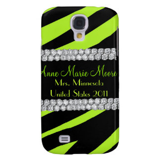 Diamond Lime & Black Zebra iPhone Case