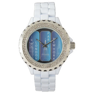 "Diamond ""Look"" New York, London, Paris Ladies Watch"