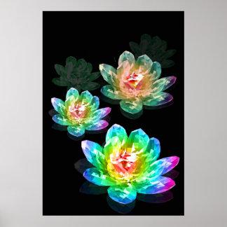 Diamond Lotus Poster