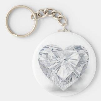 Diamond = Love Basic Round Button Key Ring