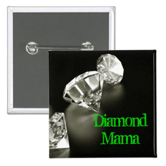 Diamond Mama Square 15 Cm Square Badge