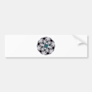 Diamond Mandala Bumper Sticker