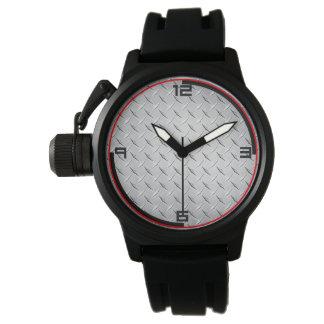 Diamond Metal Plate Watch