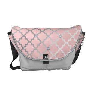 Diamond Moroccan Pattern Pink Messenger Bags