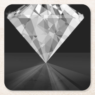 Diamond On Back Square Paper Coaster