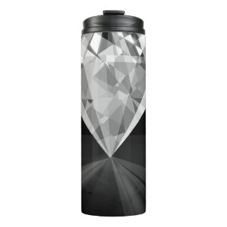 Diamond On Back Thermal Tumbler