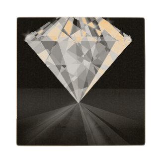 Diamond On Back Wood Coaster