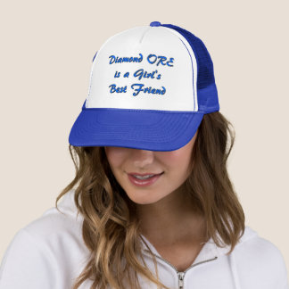 Diamond Ore Girl Trucker Style Hat