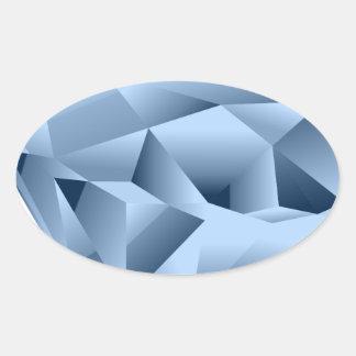 Diamond Oval Sticker