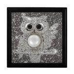 diamond owl keepsake box