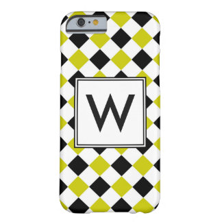 Diamond Pattern #1 Monogrammed Barely There iPhone 6 Case