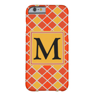 Diamond Pattern #80 Monogrammed Barely There iPhone 6 Case