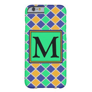 Diamond Pattern #81 Monogrammed Barely There iPhone 6 Case