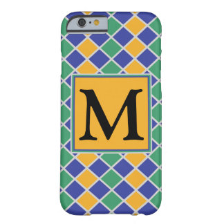 Diamond Pattern #82 Monogrammed Barely There iPhone 6 Case