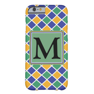 Diamond Pattern #86 Monogrammed Barely There iPhone 6 Case