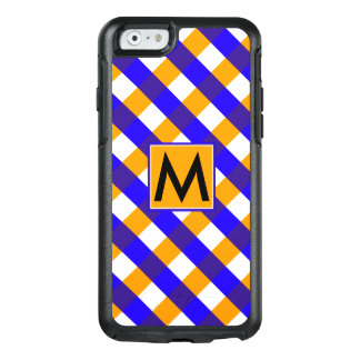 Diamond Pattern #8 Monogrammed OtterBox iPhone 6/6s Case