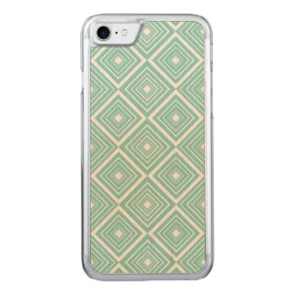 Diamond Pattern Baby Blue and White Carved iPhone 8/7 Case