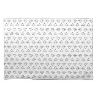 Diamond Pattern Cloth Placemat