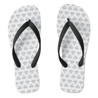 Diamond Pattern Flip Flops
