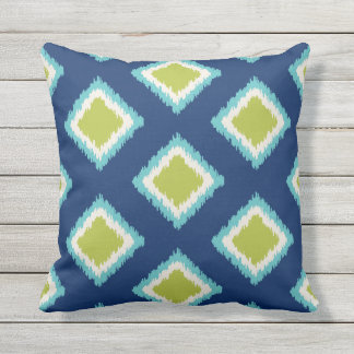 Diamond Pattern | Green and Blue Cushion