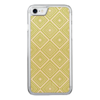 Diamond Pattern Green and White Carved iPhone 8/7 Case