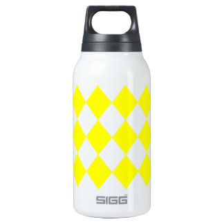 DIAMOND PATTERN in Bright Yellow ~ 0.3 Litre Insulated SIGG Thermos Water Bottle