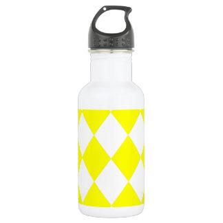 DIAMOND PATTERN in Bright Yellow 532 Ml Water Bottle